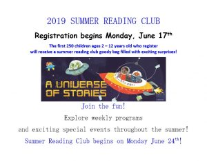 2019 Summer Reading Club Begins at the Kenilworth Public Library @ Kenilworth Public Library